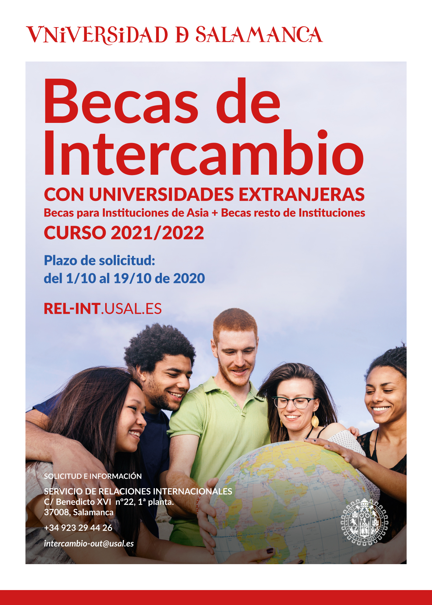 cartel Becas Intercambio 2019-2020